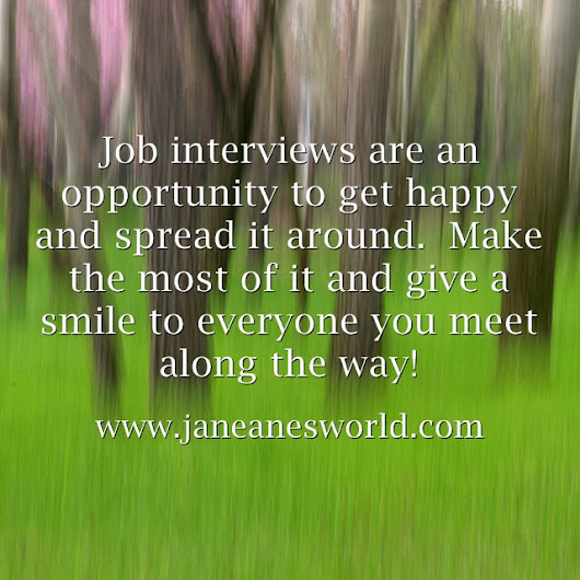 Be Thankful for the Job Interview