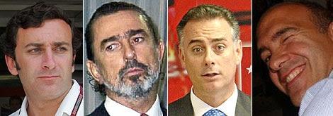 De dcha. a izq., Alejandro Agag, Francisco Correa, Alberto López Viejo y Jacobo Gordon.