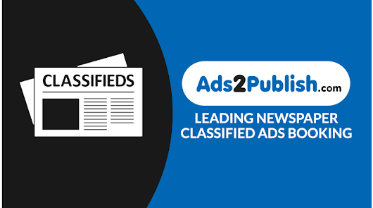 Book Newspaper Classified Advertisement Online – Ads2Publish Blog
