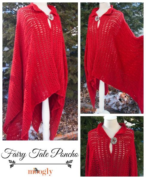 Cuento de hadas Poncho: patrón #crochet libre en tamaños pequeño -5X!