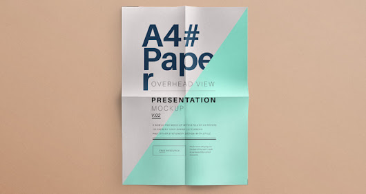 Psd A4 Overhead Paper Mock-Up Vol2 | Psd Mock Up Templates | Pixeden