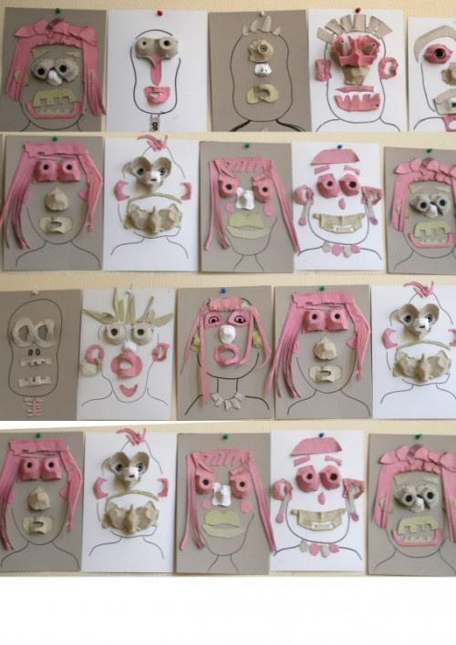 Egg Carton Art Project for Kids.