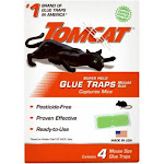 Tomcat 0362710 Super Hold Glue Traps, Mouse Size, 4-pack