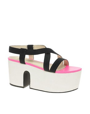 Image 1 of ASOS HALT Wood Flatform Sandals