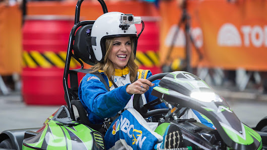 Watch Hoda, Natalie, Matt and Al race on the plaza – in go-karts!