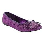Women's Funtasma Star 16G, Adult, Size: 5 M, Purple Glitter