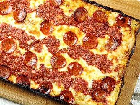 detroit style pan pizza recipe  eats