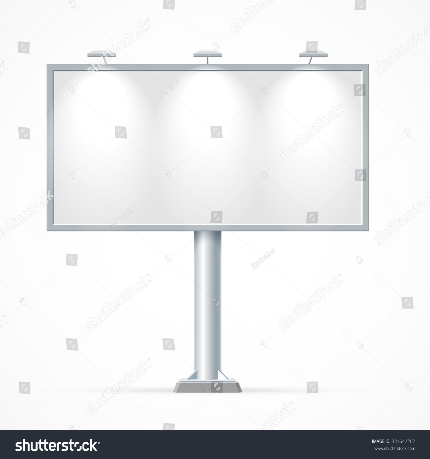 Blank Billboard Mockup Your Advertisement Design Stock Vector ...
