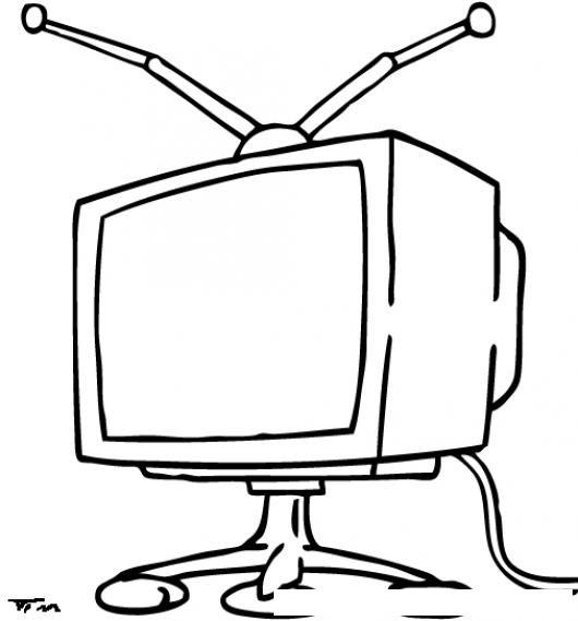 Dibujo Television Para Colorear Dibujo Para Colorear Televisión Img