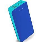 Aduro PowerUp Trio 20,000 mAh SmartCharge Dual USB Backup Battery Blue