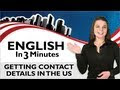 Learn Real English - Getting Contact Details