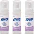 Purell Advanced Alcohol Free Hand Sanitizer Foam - 3 pack, 1.5 fl oz bottles