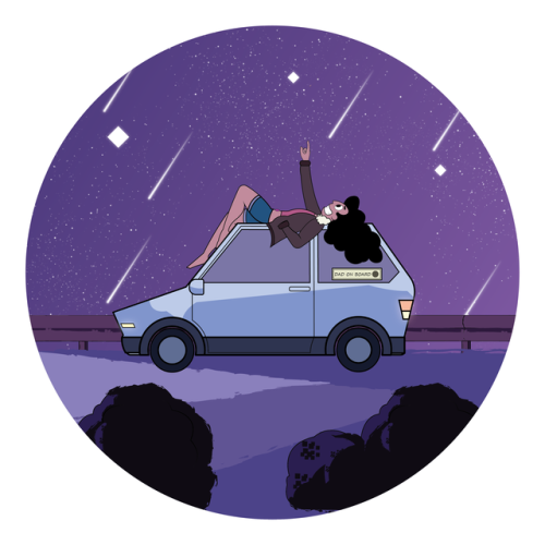 Star Gazing Stevonnie inspired by the Episode of Steven Universe (Beach City Drift)