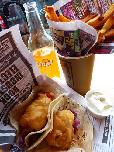 my fish tacos, David's pommes frites...no really.