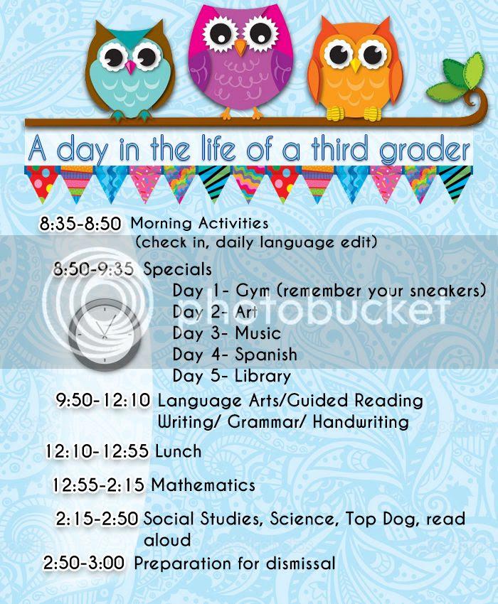 Daily Schedule School