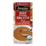 Imagine Broth Beef Organic Low Sodium, 32 OZ (Pack of 12)