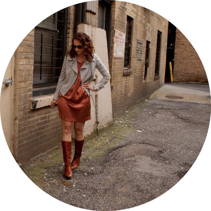dashdotdotty dash dot dotty alley outfits work professional weekday rust silk dress joie