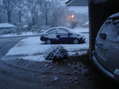 It's SNOWING!!