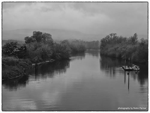 Abbey River under mist