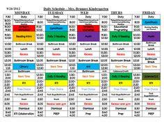 Kindergarten Daily 5 Schedule