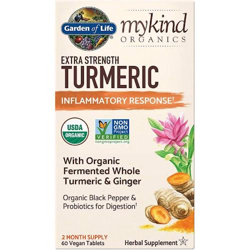 Garden of Life Mykind Organics Extra Strength Turmeric Inflammatory Response Formula, Tablet - 60 count