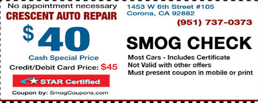 $35 SMOG CHECK - ALL FEES INCLUSIVE - STAR Station