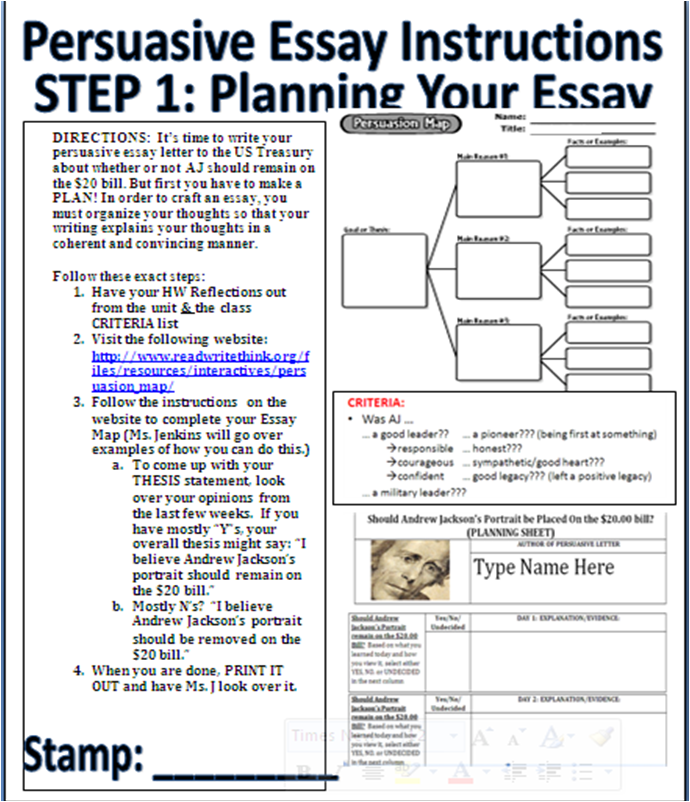 steps to writing a persuasive essay you have