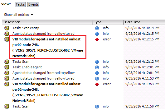 NSX Bytes: NSX-v 6.3 Host Preparation Fails with Agent VIB module not installed - VIRTUALIZATION IS LIFE!
