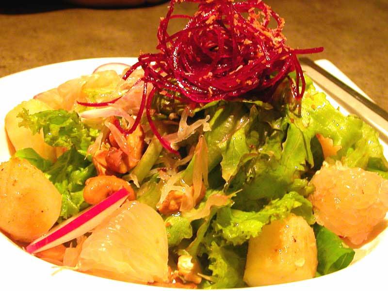 seared scallop and pomelo salad