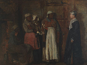 A meeting between four women; three freed slaves and their former mistress.