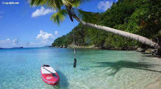 Paddle to Tire Swing and Mermaid's Chair St. John - SUP-StJohn