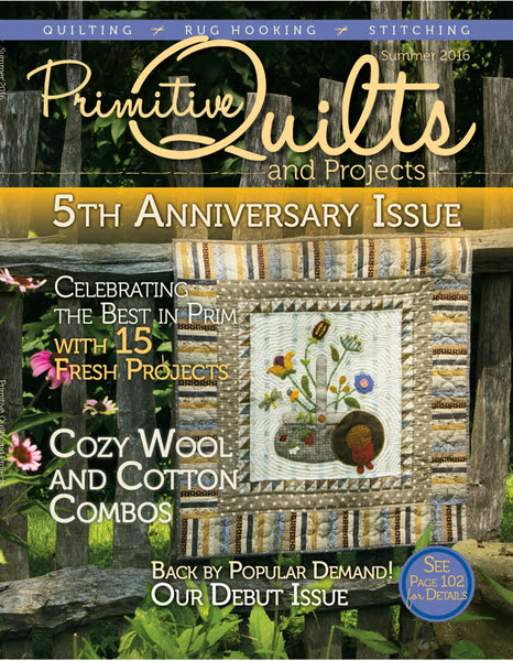 Primitive Quilts and Projects Magazine - Summer 2016