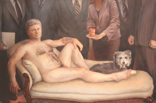 B.C. resident buys naked Stephen Harper painting for $20,000