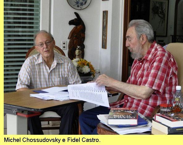 O autor com Fidel Castro.