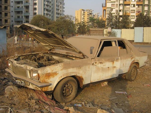 Junk Car near Lohia Jain Group's Riddhi Siddhi, 2 BHK & 3 BHK Flats at Bavdhan Khurd, Pune 411 021