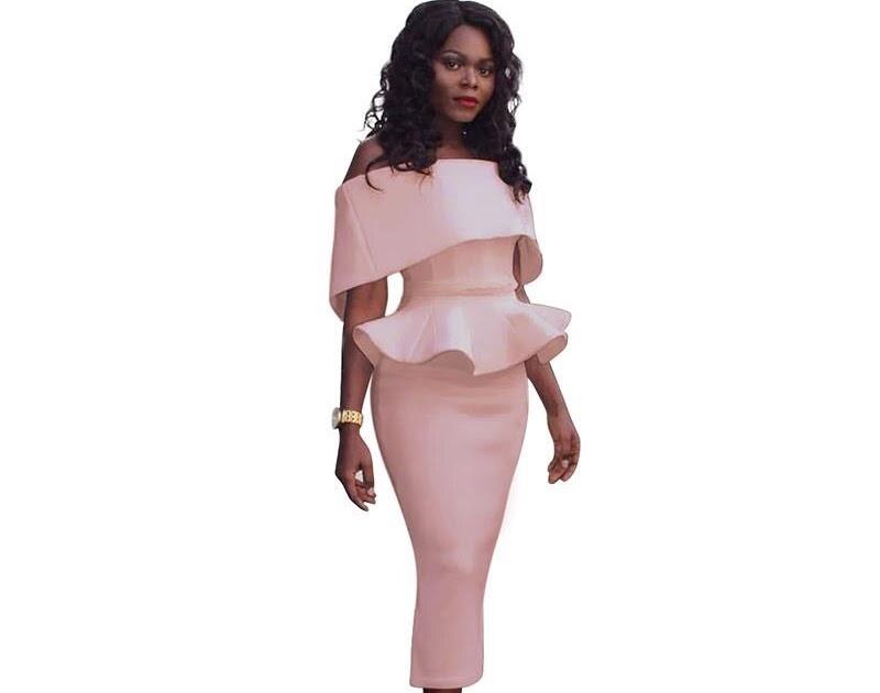 91795750a Comprar Vestidos De Verano Las Mujeres Sexy Moda Slim Paquete Volantes  Vestido Fiesta Trabajo Lápiz Plus Tamaño LJ9148M Online Baratos