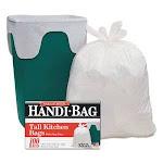 13 Gallon White Garbage Bags, 24x28, 0.6mil, 100 Bags (WBIHAB6FK100)