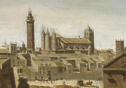 Archivo:Templo mudéjar del Pilar en 1647.jpg