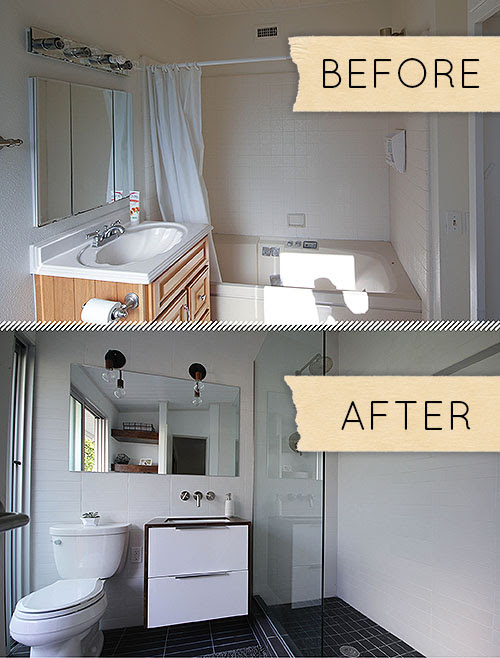 Small Modern Bathroom Remodel: Before & After