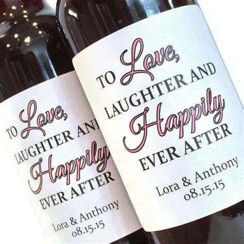 Custom Mini Wine Bottle Labels for Wedding Favor or by