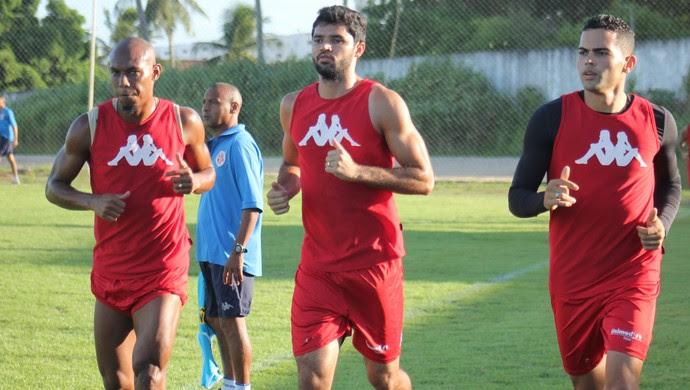América-RN - Flávio Boaventura - Rômulo - Richardson (Foto: Canindé Pereira/Divulgação)