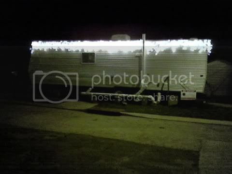 New Orleans Christmas in a FEMA travel trailer