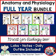 Anatomy & Physiology and Biology Units Full Year Bundled Package