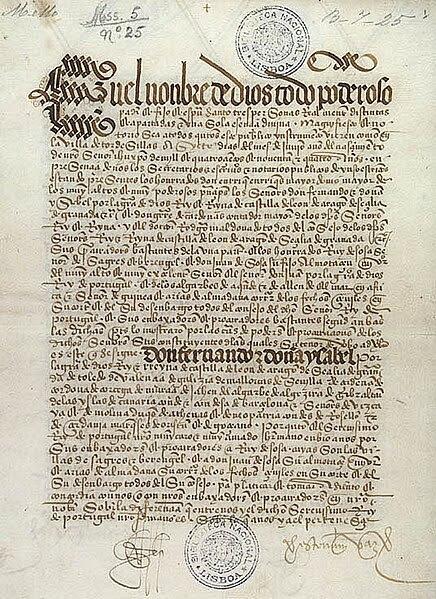 Ficheiro:Treaty of Tordesillas.jpg