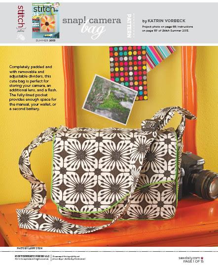 Schnitt für eine Kameratasche für die SLR @frauvau.blogspot.de