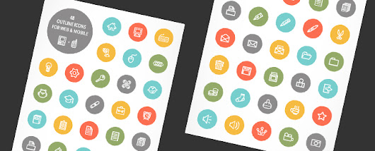 Web and Mobile Outline Icon Set For Designers - Free Download - DesignGrapher.Com | Design & Photography blog
