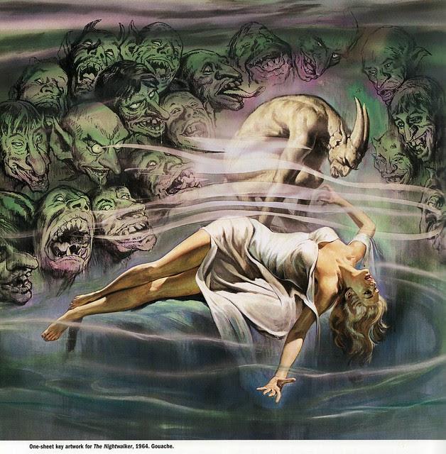 Reynold Brown -  The Night Walker, original art, 1964