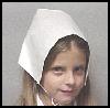 Pilgrim<br />  Bonnet   : Thanksgiving Pilgrim Crafts Projects for Children