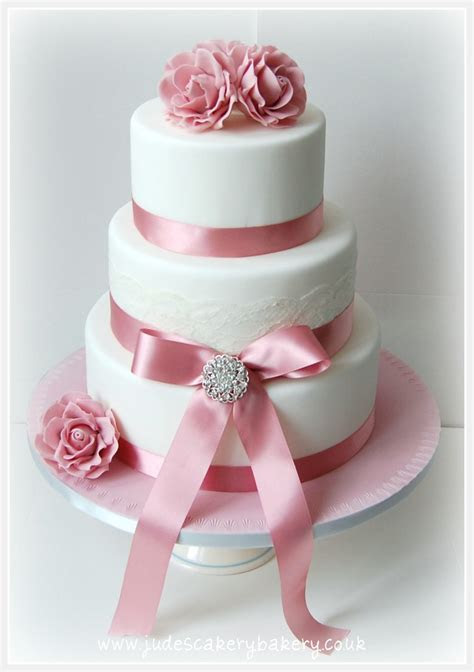 dusty pink rose wedding cakes   3 tier wedding cake with