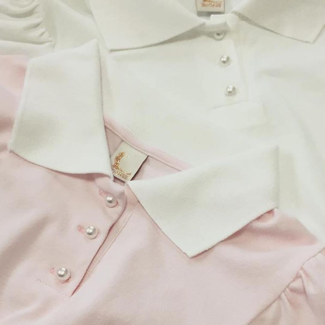 gabriellepeco:  #KrissSoonik Kristel polo suspender T-shirt in Pink本日より販売開始です🍑  #regram from @yoshikohachiya 💋#gabriellepeco  (Gabrielle  Peco)